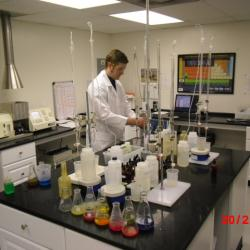 In-house lab facility utilizing atomic absorption, spectrometry, centrifuge